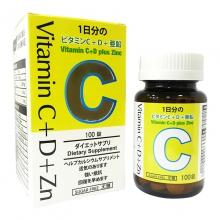 伊高頓維C+D+鋅咀嚼片 無糖配方 黃金比率 吸收更快 100粒/盒
